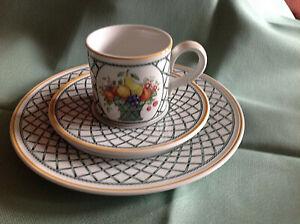 Villeroy & Boch *** Basket *** 1 Kaffeegedeck komplett 3-tlg. ***