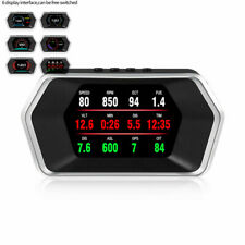 Car Computer OBD2/GPS 2System HUD Digital ECU Speedometer Voltage Fuel RPM Gauge