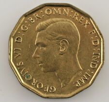 1945 Great Britain 3 Pence (UNC) Uncirculated Condition