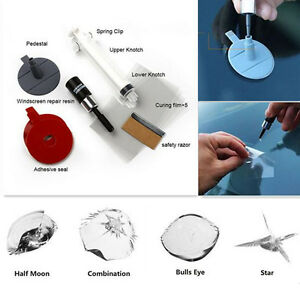 Universal Car Windscreen Glass Chip Crack Scar Star Bullseye Repairing Tool Kit