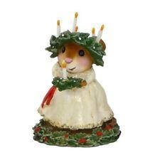 Wee Forest Folk Christmas Figurine M-449 - Santa Lucia