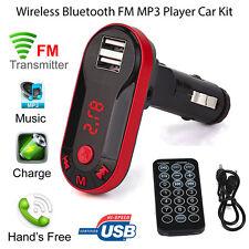 Wireless Bluetooth FM Transmitter Car Kit MP3 Player USB Charger + Remote AU