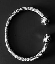 Men Women Magnetic Copper Bracelet Therapy Arthritis  Healing Energy.Silver