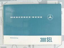 Original Mercedes Bedienungsanleitung W109 300SEL NOS! Einziges Exemplar!