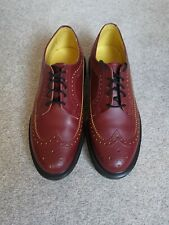 Dr Martens DM Airwair 3989 cherry red and yellow leather brogue shoe size 7 UK