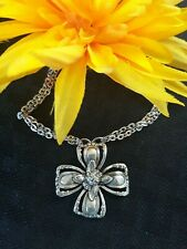 Very Rare!  MARQUIS PENDANT NECKLACE by Silver Spoon Jewerly