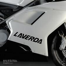 2x Laverda Logo Sticker Decal - Bike Vinyl Motorbike Motorcycle Ninja Race KTM