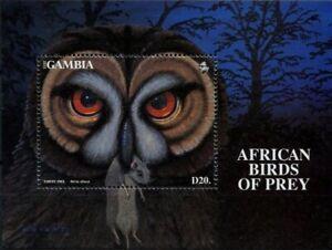 Gambia 1993 MNH MS, Tawny Owl, Birds of Prey, Raptors