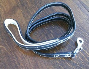 Leashes Long Soft Leather Dog Size 5' Lead Walking Large Dogs Swivel Snap Clip