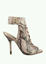 $129 GUESS KALLI LACE UP BOOTIES PINK MULTI LEATHER SIZE 6.5