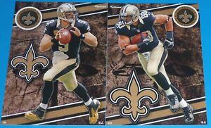 2014 NFL FATHEAD TRADEABLES Lot of 2 New Orleans Saints Drew Brees Jimmy Graham