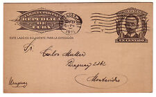 1925 1CT. STATIONERY CARD CIRCULATED TO URUGUAY. SCARCE DESTINATION