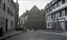 SAVERNE c. 1900 - Place Fontaine Bas-Rhin Grand Négatif - FD 372
