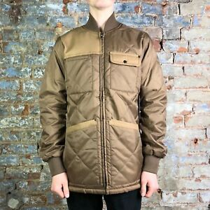 Krew Signature Quilted Jacket Coat New in Brown, in size S,L,XL.