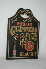1759 Finest Dublin Guinness Wooden 3D Bottled Draught 9D Beer Pint Sign Man Cave
