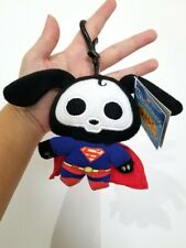 """NEW DC Heroes Justice League Skelanimals Superman Dax the Dog Clip-On 4"""" Plush"""
