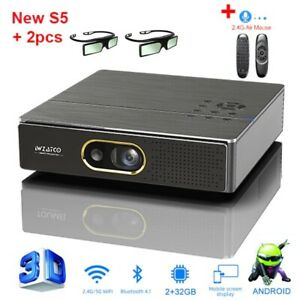 Full HD 1080P  Portable MINI DLP 3D Projector 4K 5G WIFI Smart Android for Home
