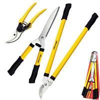Neilsen 3pc Tree Lopper Shears Secateurs Hedge Garden Pruning Plier Tool Set