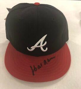 Hank Aaron Atlanta Braves autographed cap with Beckett COA