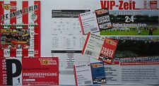 8 items VIP Tickets Programm Parking 2013/14 Union Berlin - Greuther Fürth