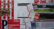 8 items VIP Tickets Programm Parking 2013/14 Union Berlin - Greuther Fürth