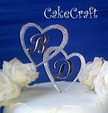 Acrílico initial letras Personalizado De Boda Compromiso toppers tartas