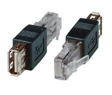 Usb 2.0 A-buchse (kupplung) an rj45 stecker adapter schwarz
