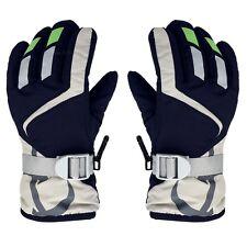 Children Winter Warm Kids Ski Snowboard Gloves W/Adjustable Strap Navy Blue