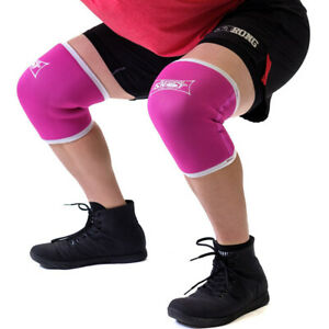 Sling Shot Knee Sleeves 2.0 by Mark Bell - Pink, 7mm thick neoprene compression