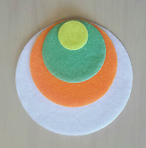 IRON ON Felt Circles - 4 sizes -  over 20 colours to choose from
