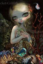 Soft Shell Jasmine Becket-Griffith CANVAS PRINT pop surreal mermaid big eye art