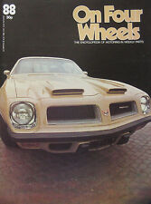 On Four Wheels magazine issue 88 featuring Porsche cutaway drawing, Pontiac