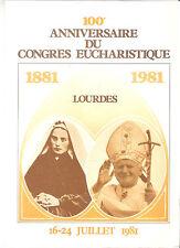 A SAISIR   ENCART DE LUXE 100eme ANNIVERSAIRE DU CONGRES EUCHARISTIQUE