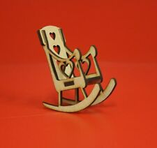 Mdf Rocking Chairs x10, craft christmas in memory mini chair craft kit 8cm tall