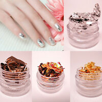 12pots Glitter Silver Gold Paillette Flake Chip Foil Nail Art Tips Decoration