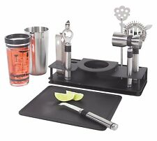 Professional Stainless Steel Cocktail Shaker Bar Tool Set Kit 10 Piece Bartender