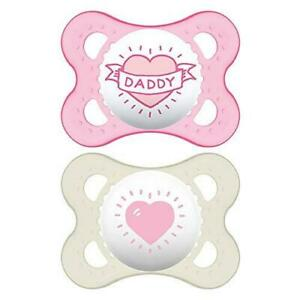 MAM I Love Daddy Collection Pacifiers (2 pack, 1 Sterilizing Pacifier Case), MAM