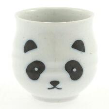 "4x Japanese 3""White Panda Sushi Cups #114-781"