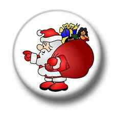 Santa Claus 1 Inch / 25mm Pin Button Cute Father Christmas Xmas Saint Nick Fun