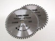 2pz 250mm TCT Circolari Lame di sega con Anelli Adattatore