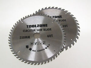 2PC 250mm TCT Circular Saw Blades with Adapter Rings