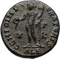MAXIMIAN Authentic Ancient 308AD Alexandria Follis Roman Coin w GENIUS i67396