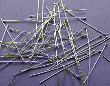 38mm length 26 gauge 0.46mm thick 925 Sterling Silver Ball End Head Pins 24pcs