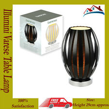 NEW Illumini 29cm Varese Table Lamp Black 1.35m Cable Length With Cord Switch