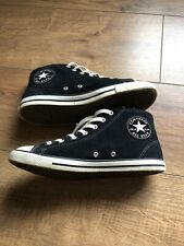Converse All Stars Black Suede High Tops, Wool Lined, Size 5, Excellent Condit
