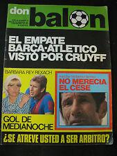 DON BALON 73 ATLETICO MADRID - F.C.BARCELONA / BARBARA REY REXACH // GOLEADORES