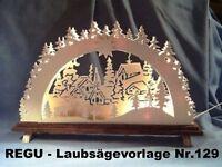 Weihnachts-Schwibbogen Motiv L 0304 Abbügelmuster Laubsägevorlage DDR