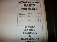 Gilson rear engine rider owner manualpart list520895209052091 gilson garden tractorgilson 1987 rear engine ridersillustrated parts manual fandeluxe Images