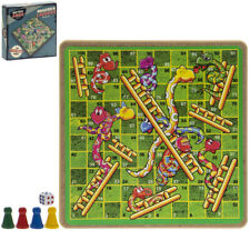 Retro Games Family Fun - Wooden Snakes and Ladders