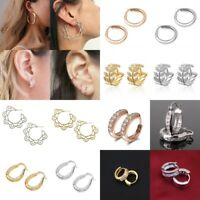 Fashion Hoop Earrings Silver/Gold Women  Round Circle Earrings Jewelry Gift Hot